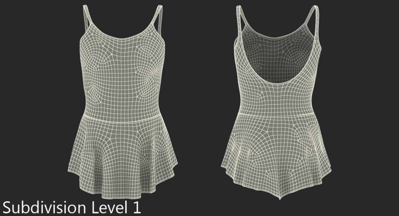 3D model Female Figure Skater Suit