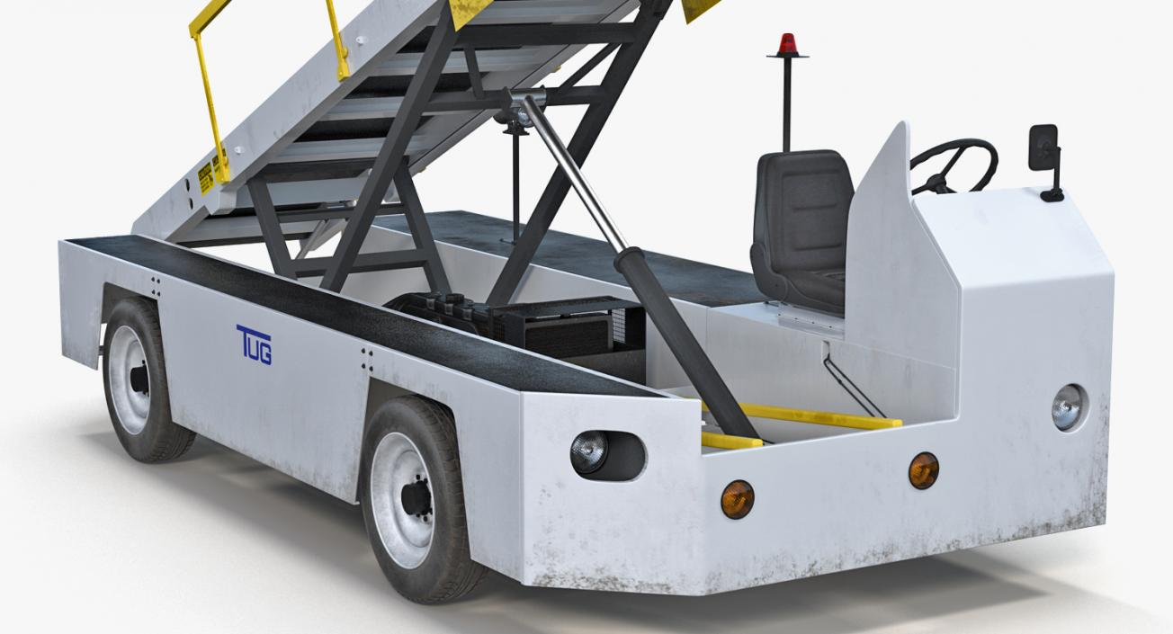 3D Airport Conveyor Belt Loader TUG 660