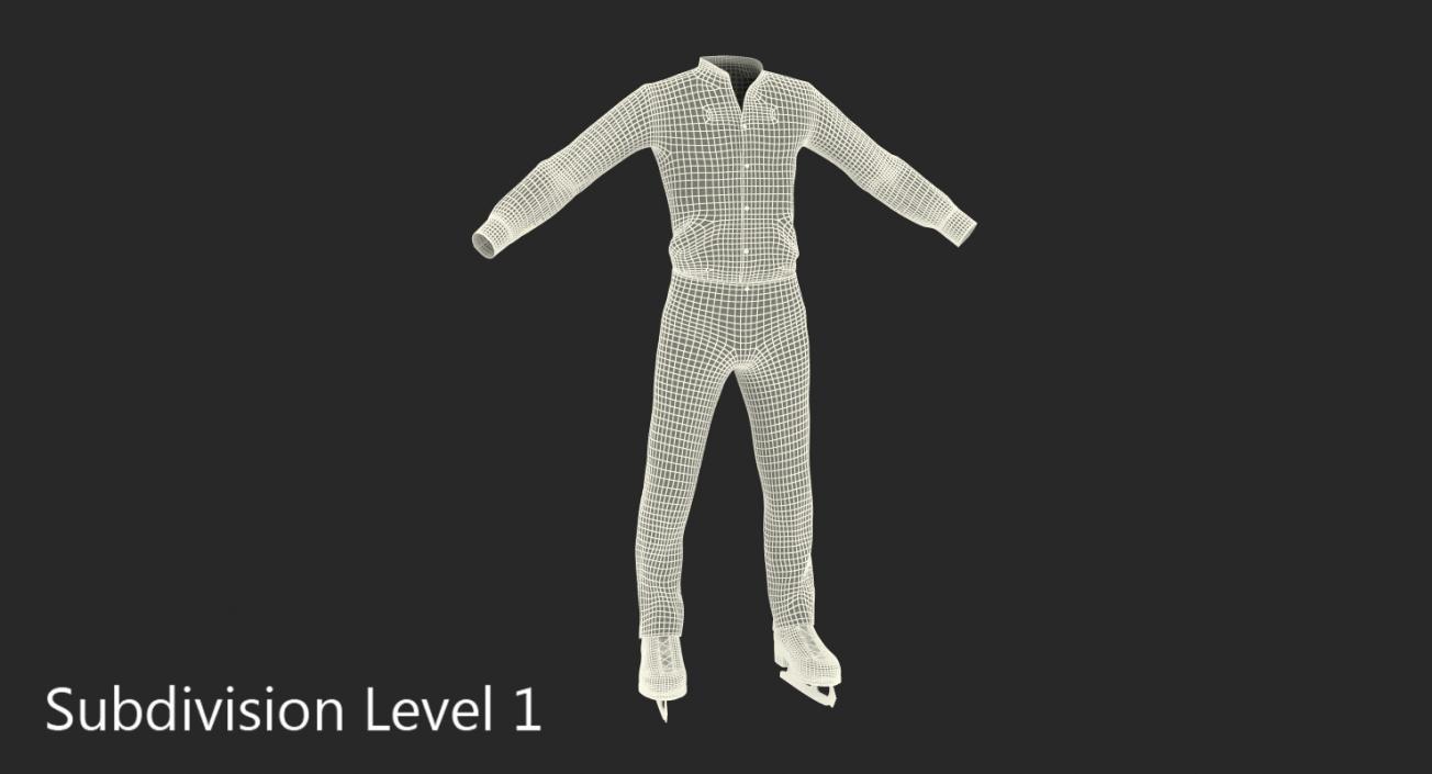 3D Male Figure Skater Costume 2 model