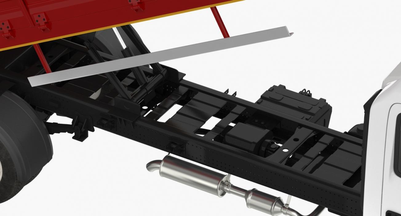 3D Isuzu NPR Dropside 2018 model