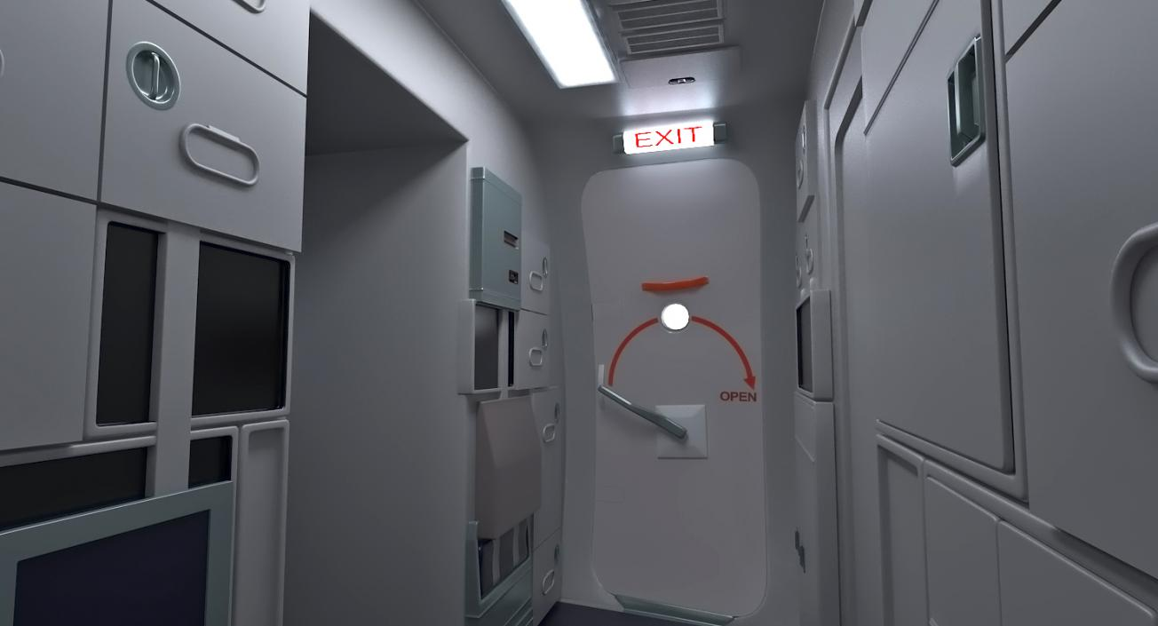 3D Boeing 737-900 with Interior United Airlines Rigged