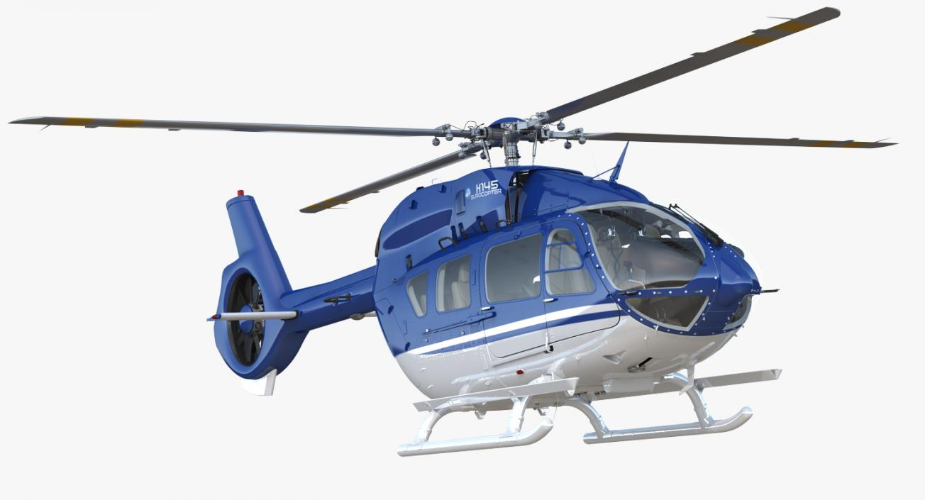3D Civil Helicopter Airbus H145 model