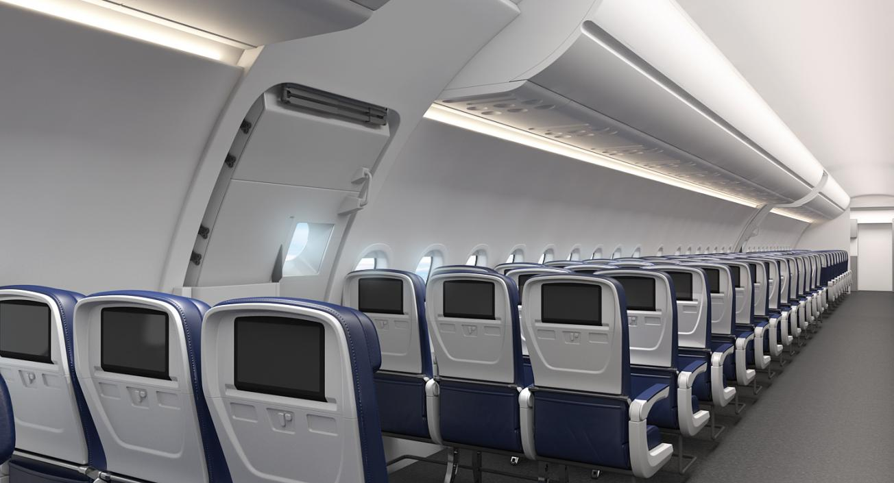 3D model Airbus A321 Lufthansa with Interior