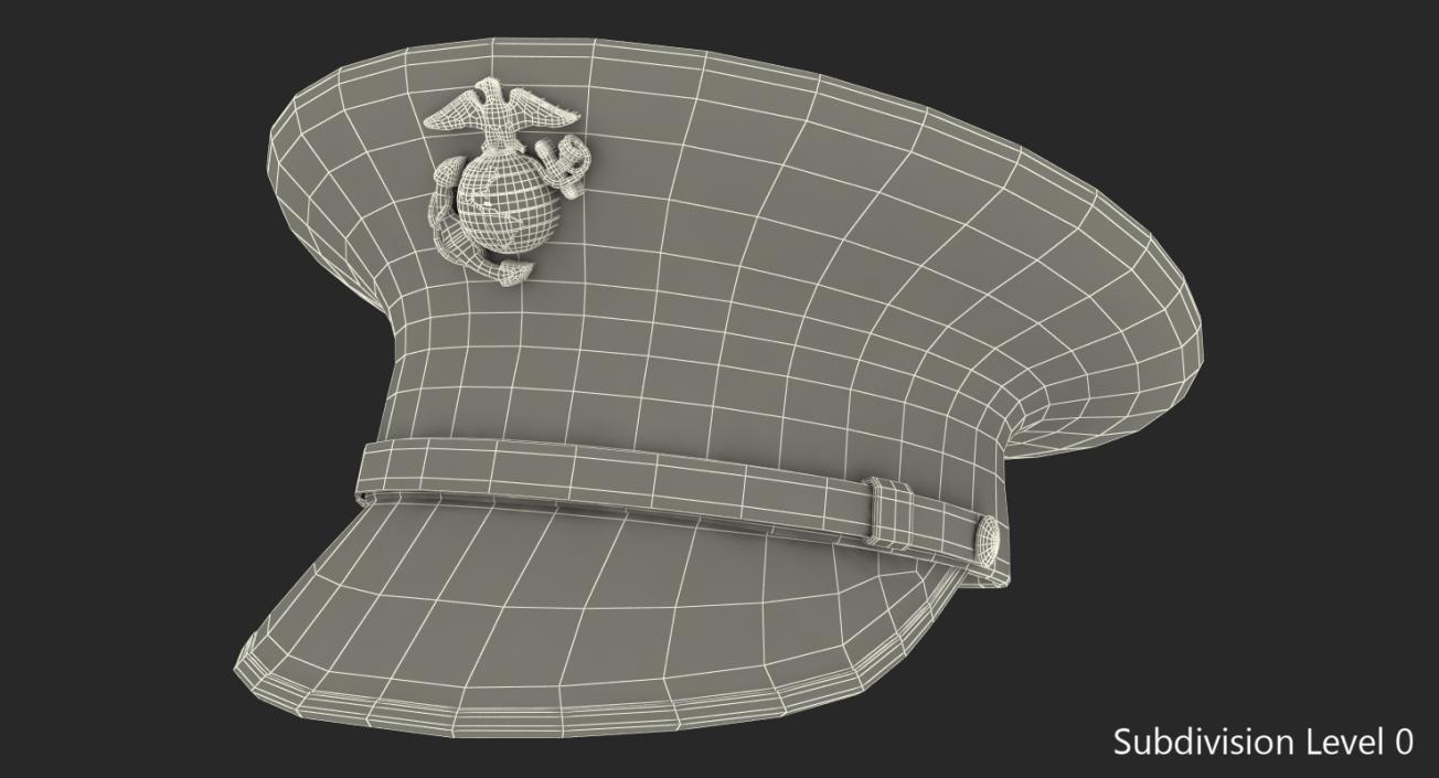 3D USMC US Marine Officer Hat | 3D Molier International
