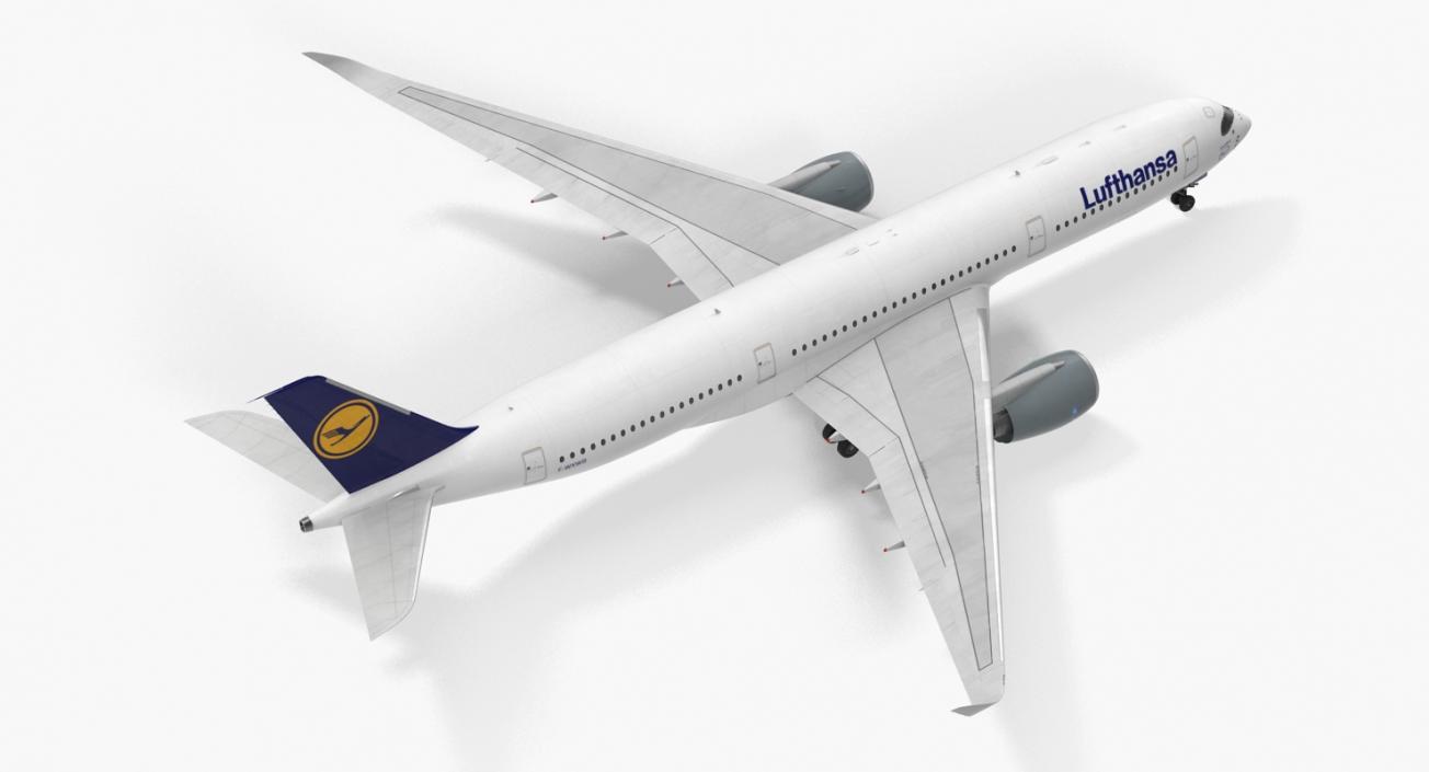 Airbus A350-900 Lufthansa Rigged 3D