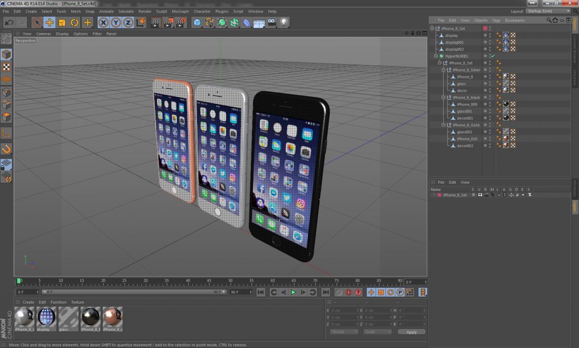 iPhone 8 Set 3D
