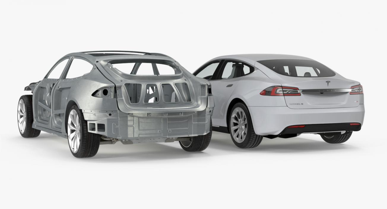 Tesla Model S and Frame Collection 3D model