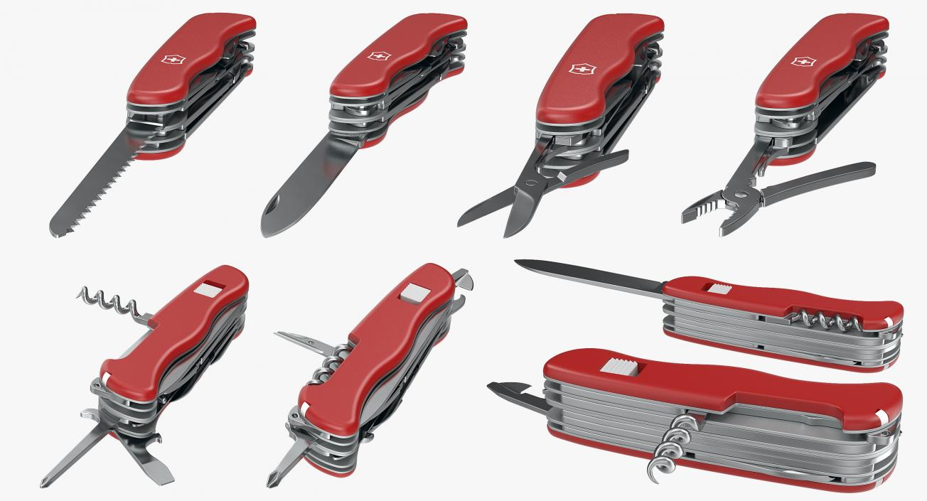 3D Swiss Army Classic Pen Knife model