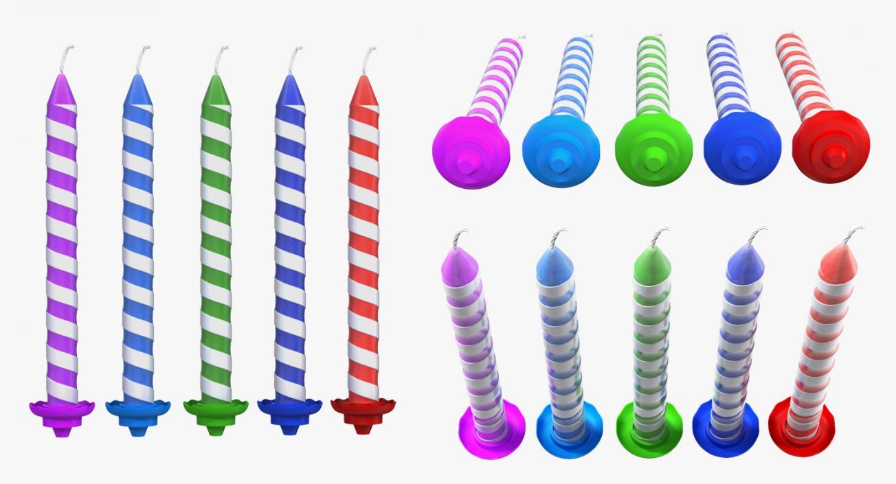 3D model Birthday Candles Set