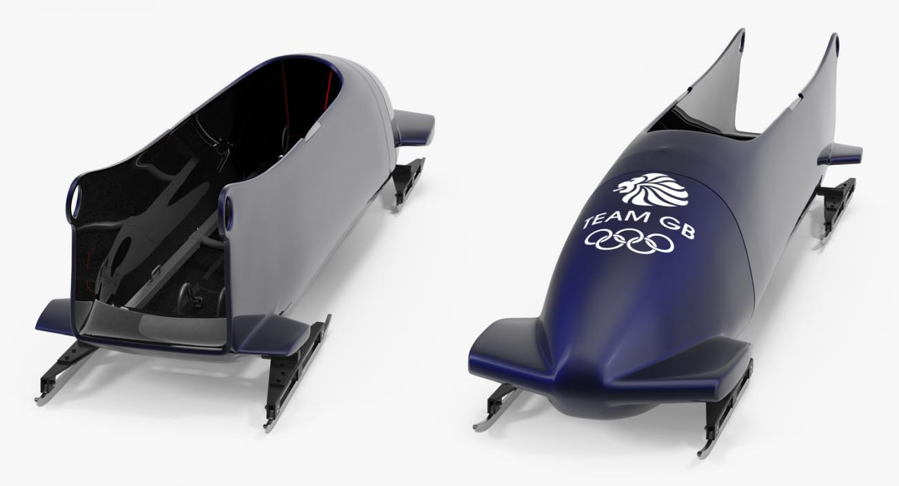 Bobsled Four Person Team GB 3D