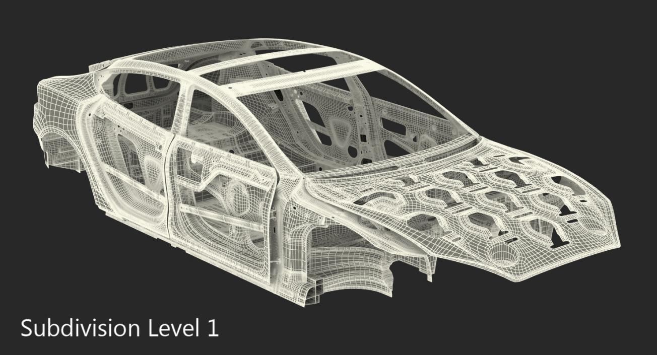 Tesla Model S Frame 3D model