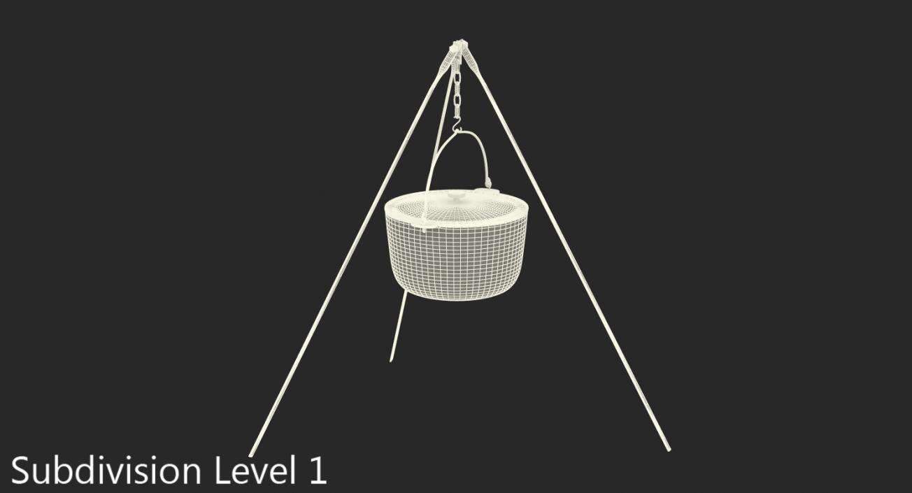 3D Outdoor Camping Tripod with Pot
