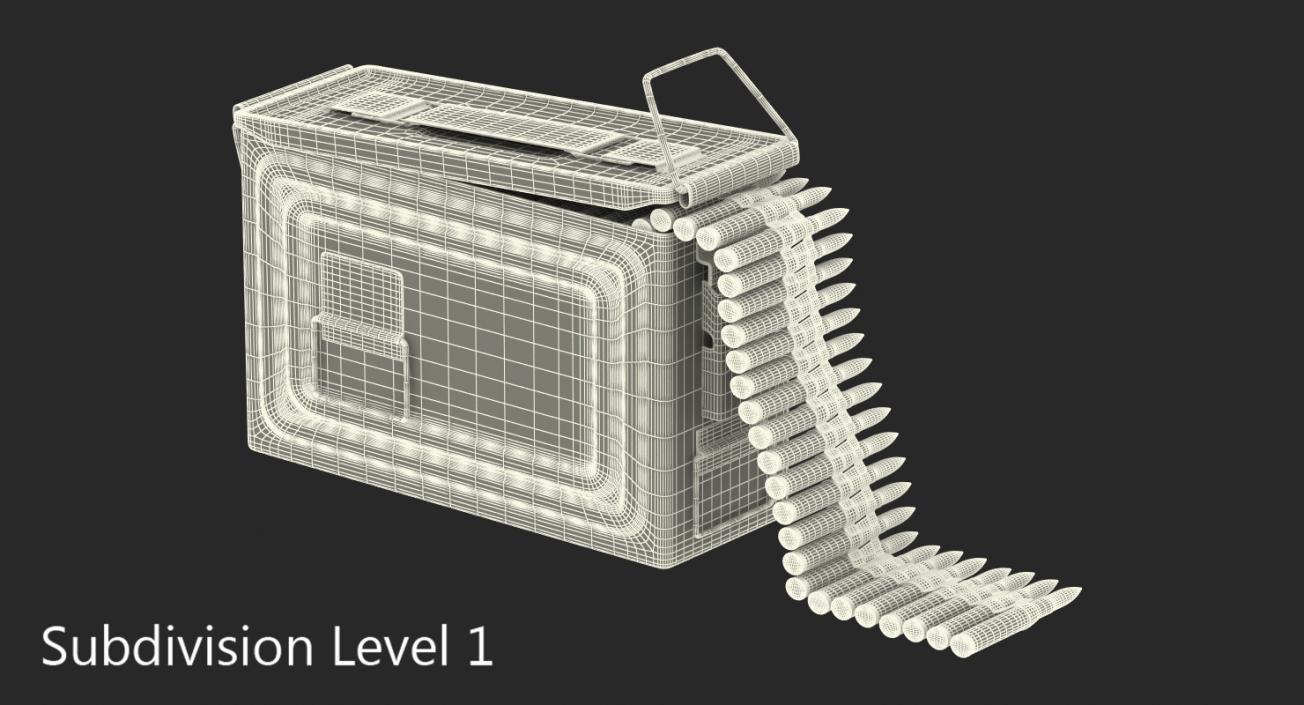 3D Machine Gun Ammunition Box