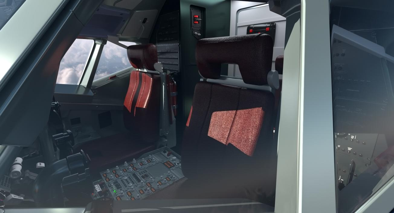 3D Boeing 737 Cockpit model