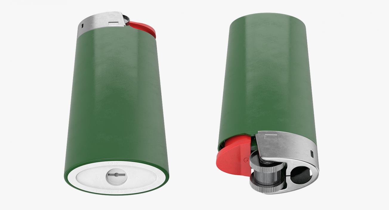 3D Disposable Plastic Gas Lighter Generic model