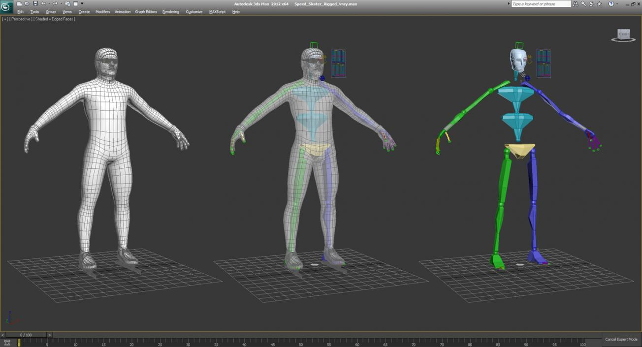 3D Winter Sport Rigged Characters Collection | 3D Molier International