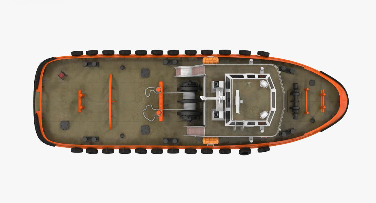 3D model Deep Sea Tug Generic