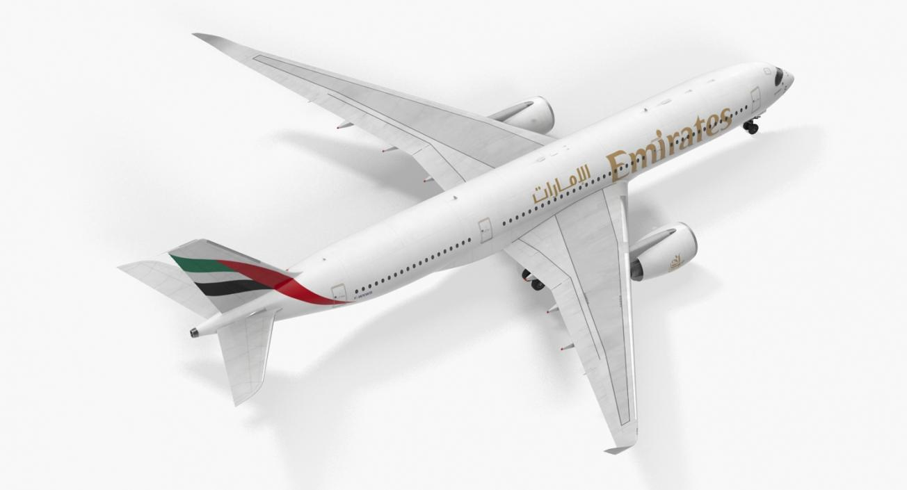 3D Airbus A350-900 Emirates Air Line model