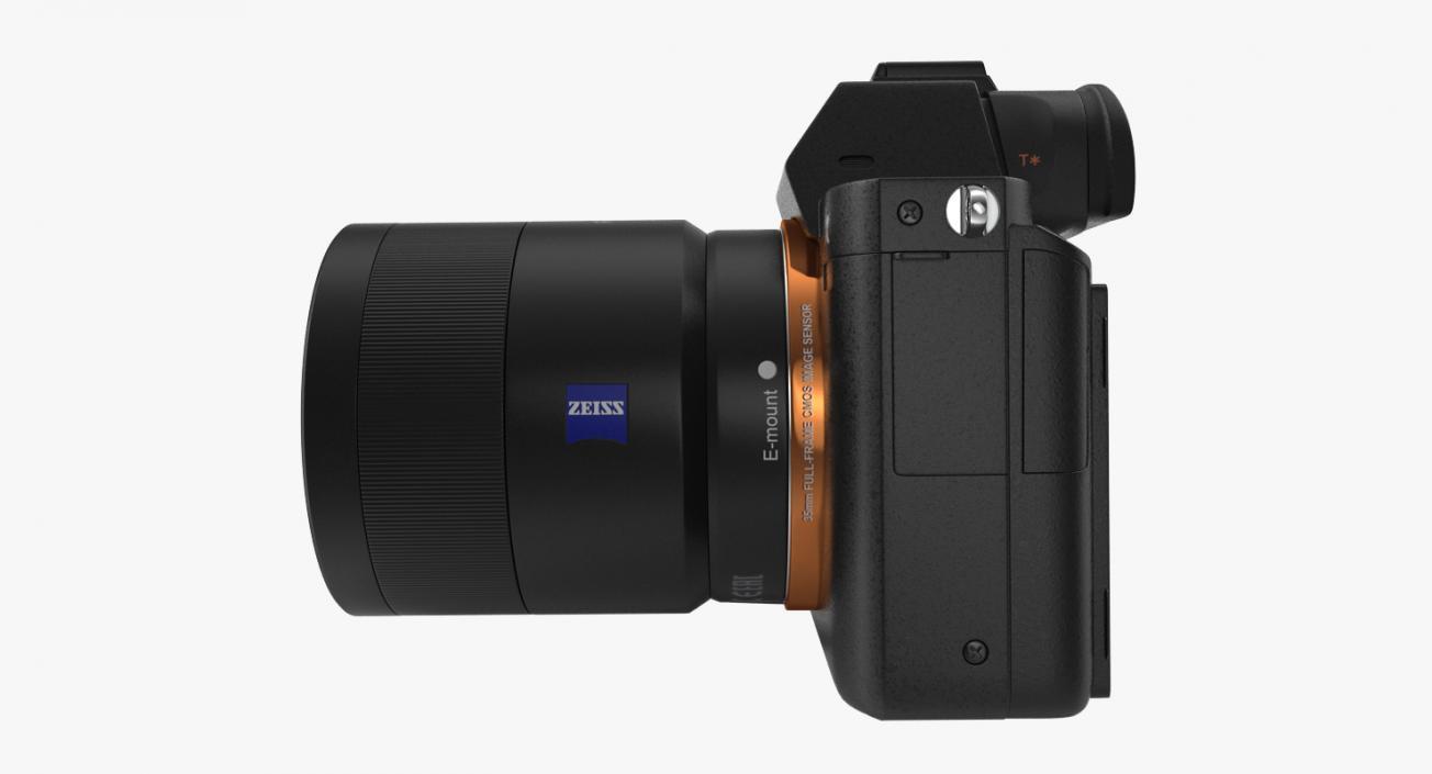 3D model Full Frame Mirrorless Camera Sony A7R II