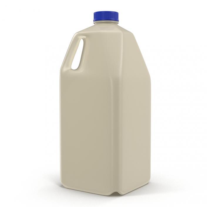Milk Half Gallon Plastic Bottle Generic 3D model   3D Molier
