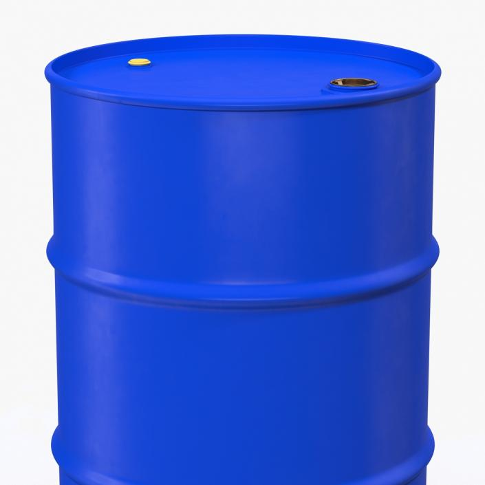 3D Oil Drum 200l Blue model