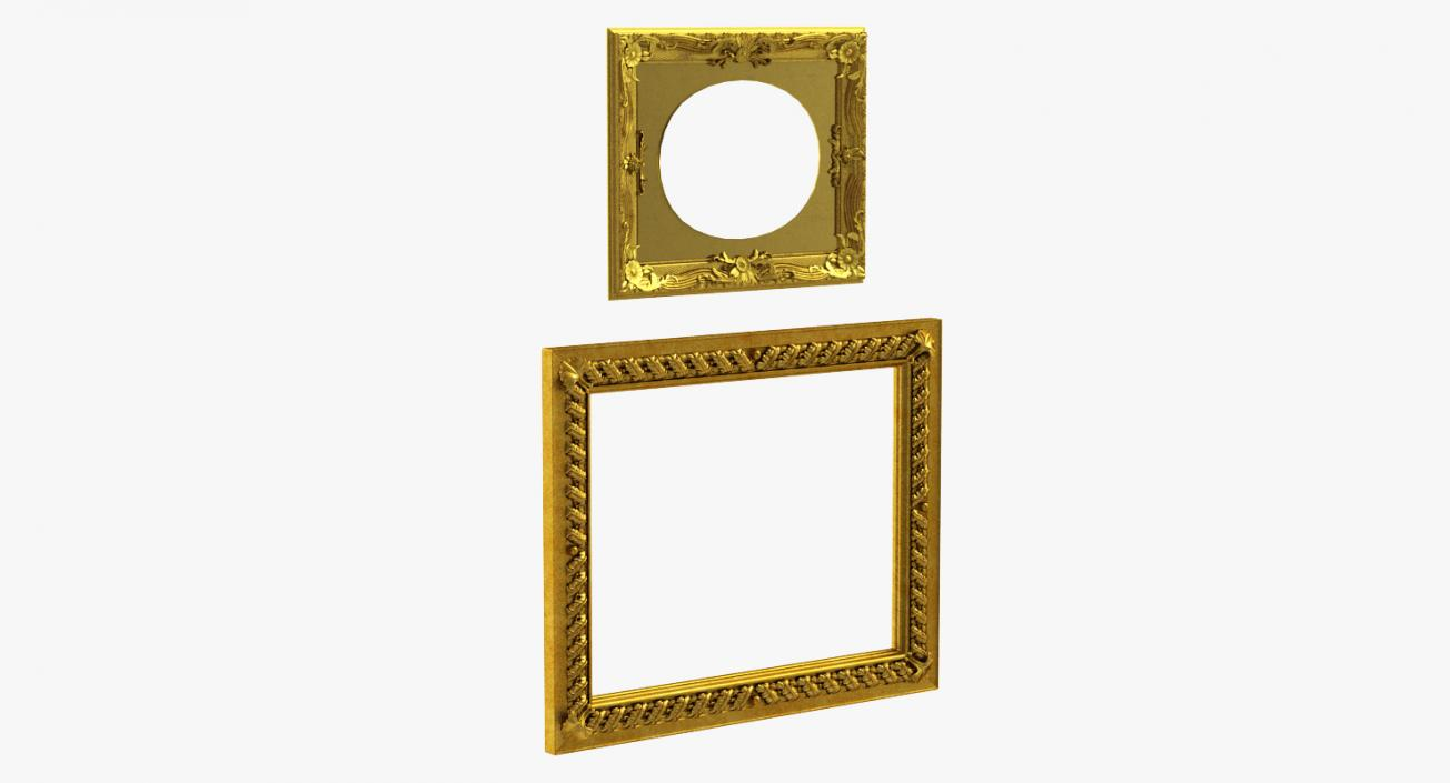 3D model Baroque Picture Frames Collection 3