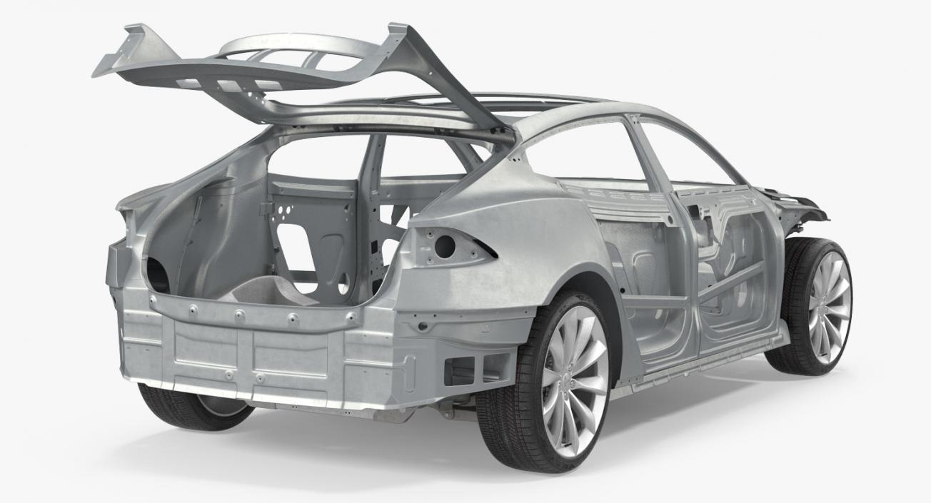 3D Tesla Model S Frame and Chassis
