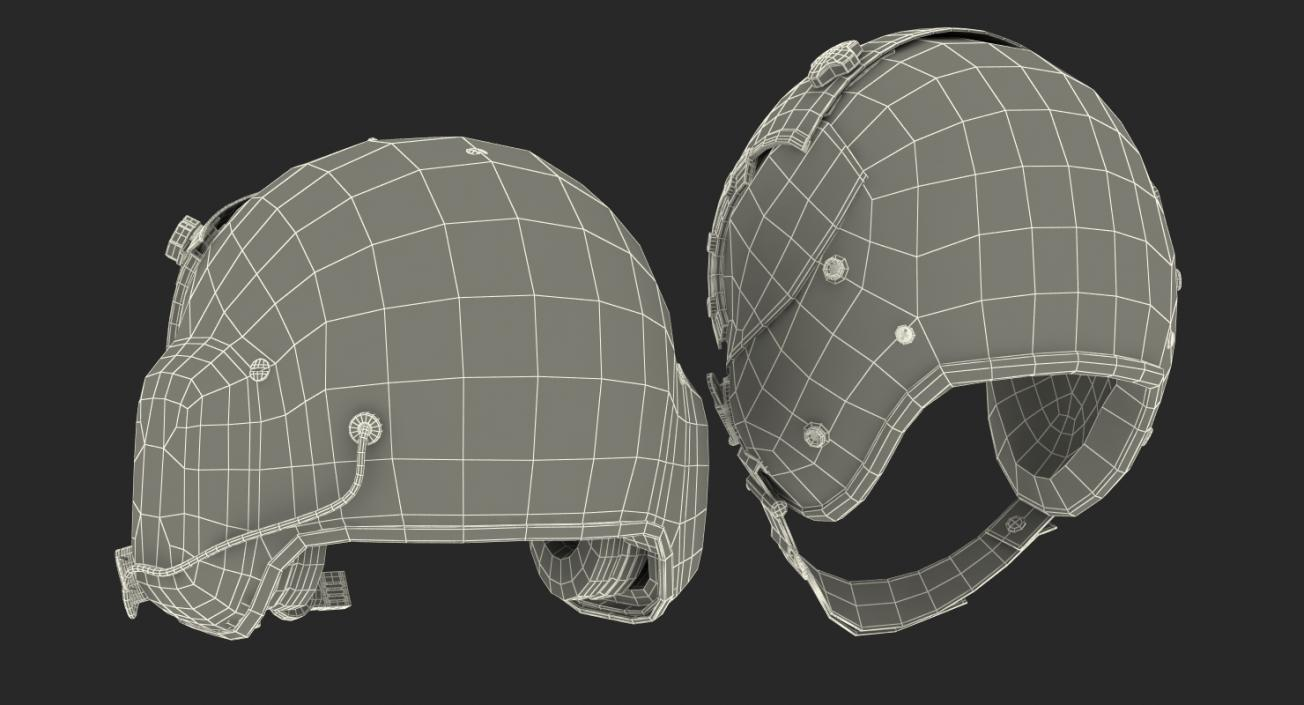 3D US Military Pilot Helmets Collection | 3D Molier International