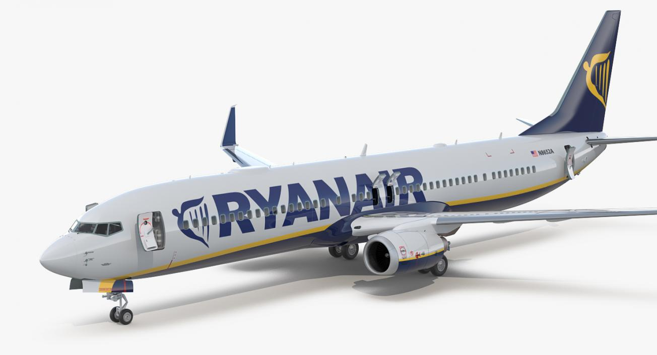 3d Model Boeing 737 900 With Interior And Cockpit Ryanair Rigged 3d Molier International