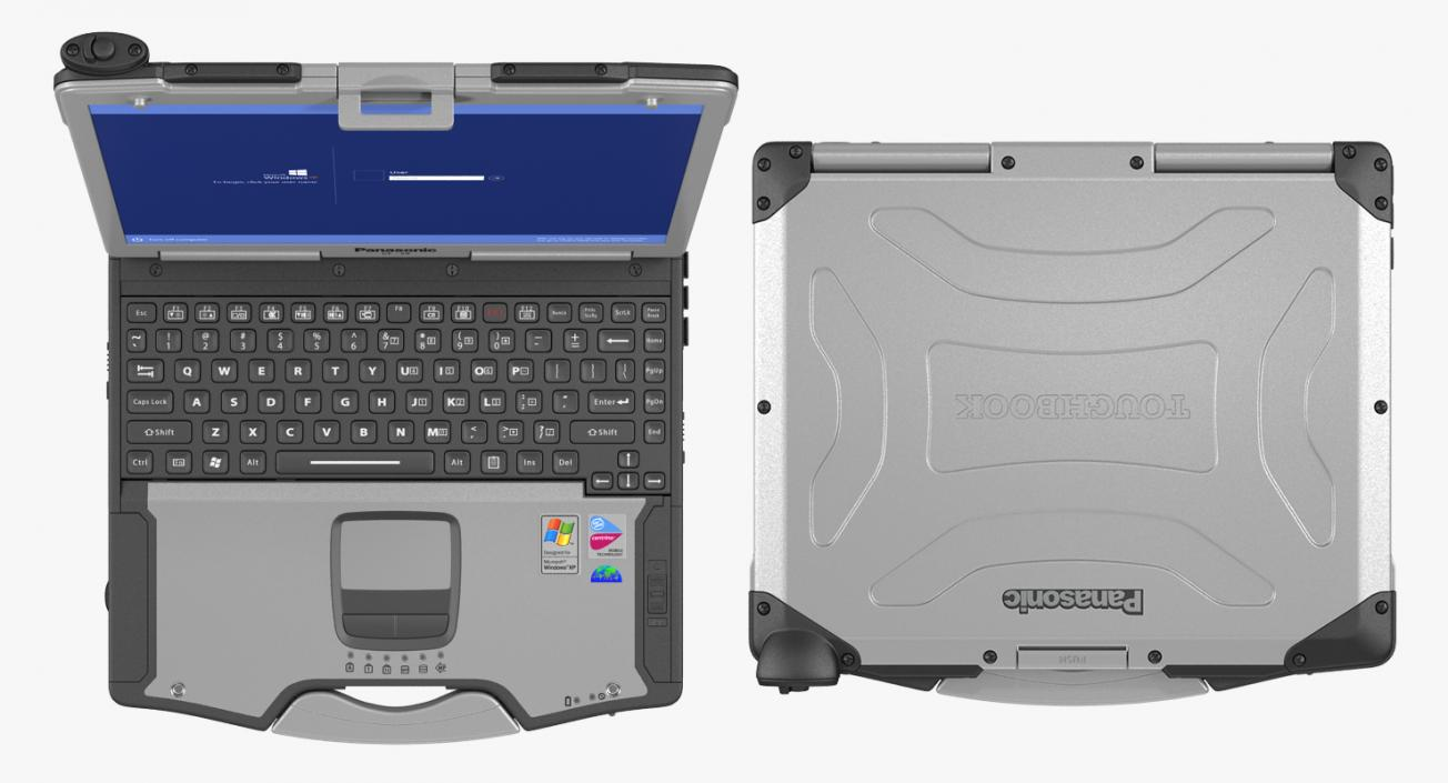 3D Panasonic Toughbook Rigged