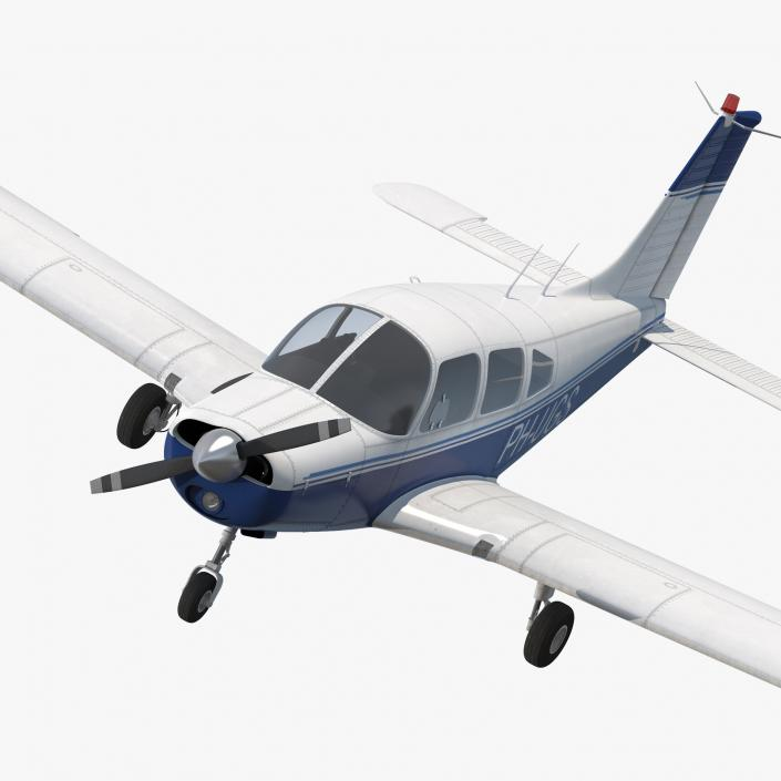 3D Piper PA-28-161 Cherokee Rigged