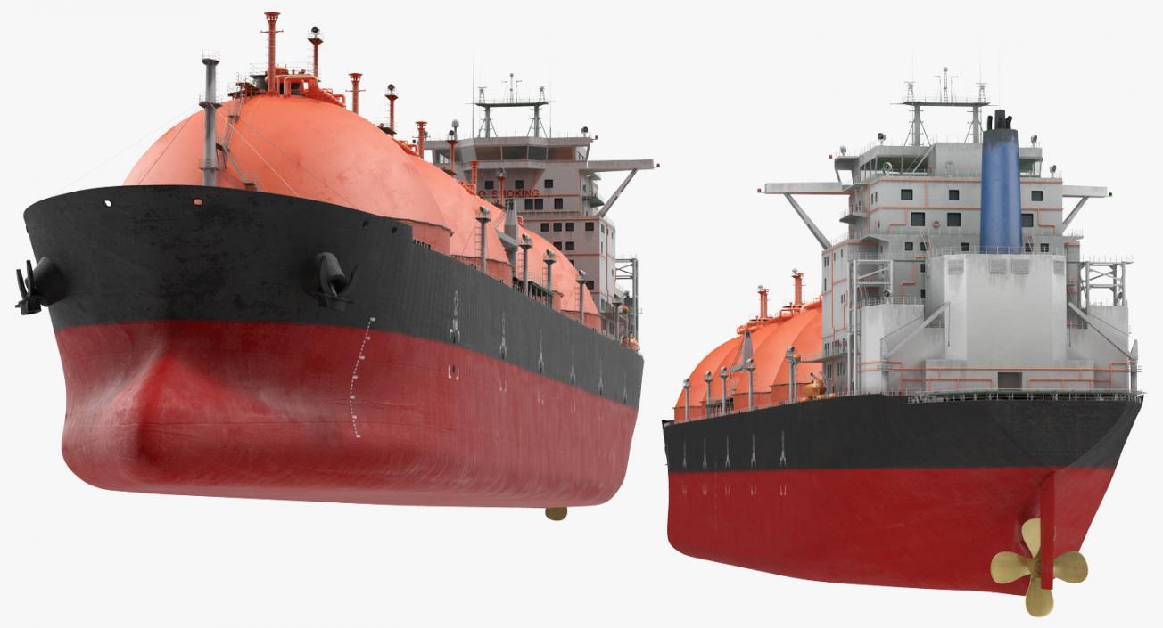 Gas Carrier Ship Generic 3D model
