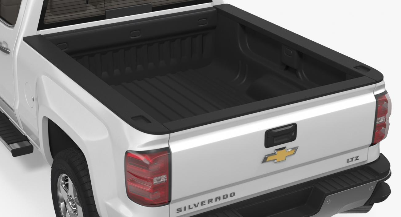 3D model Chevrolet Silverado 2015 Simple Interior