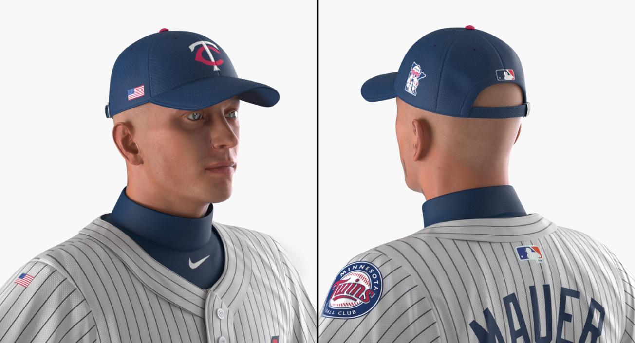 3D model Baseball Player Rigged Twins 2