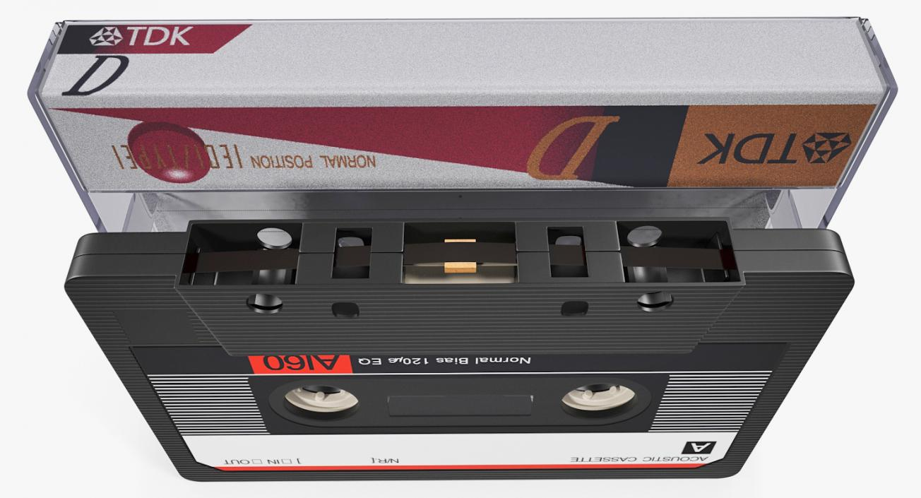 3D Audio Cassette Tape with Box model