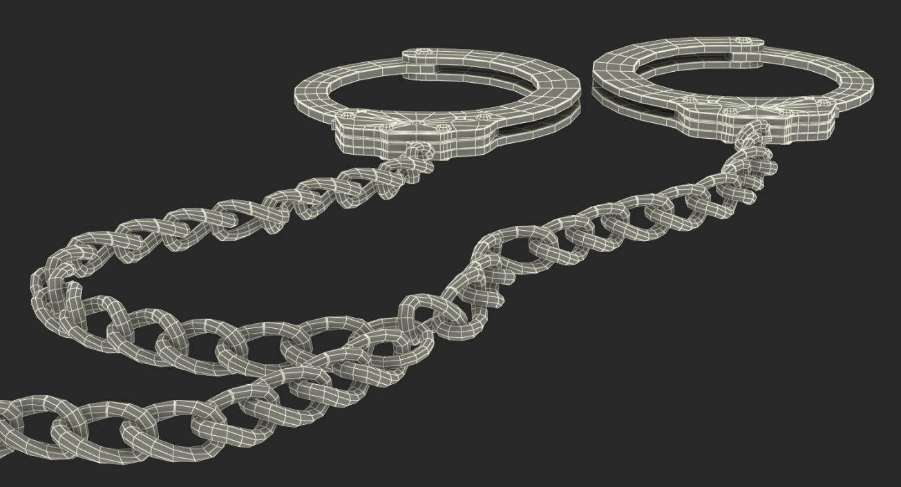 3D Combined Slave Handcuffs and Leg Irons model