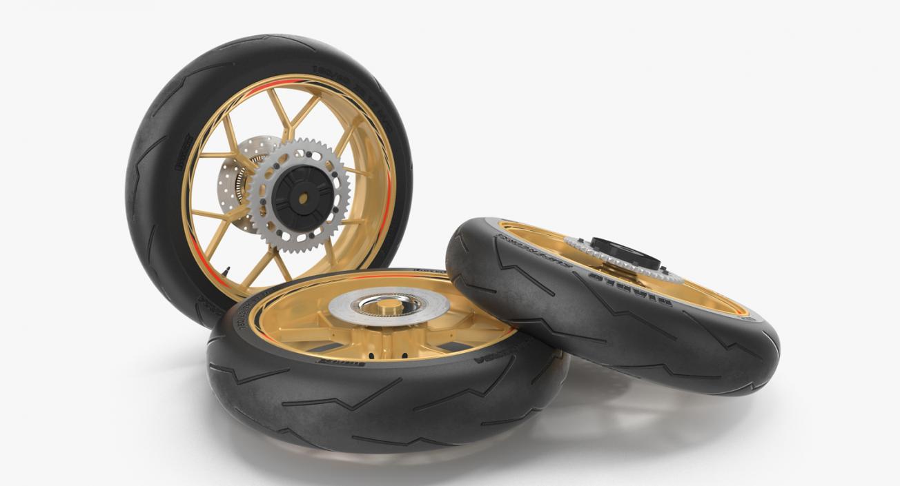 Sport Motorcycle Back Wheel 3D