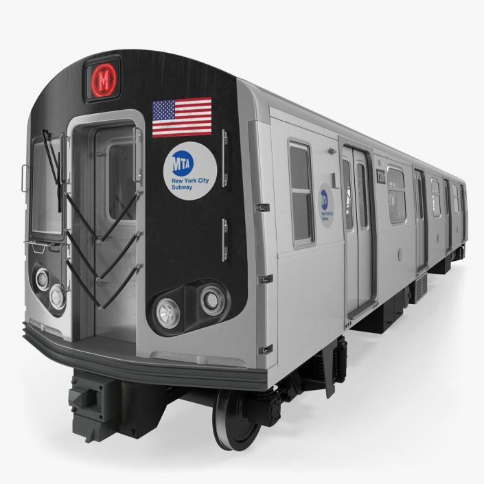 3D R160 New York City Subway Car Rigged | 3D Molier