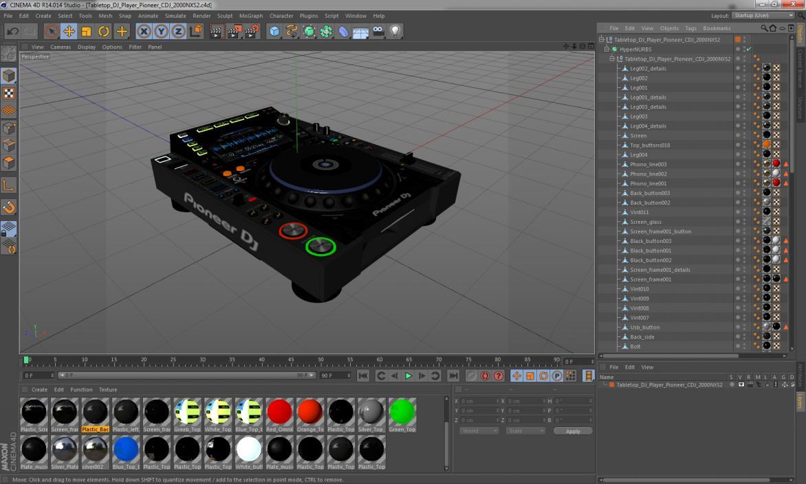 Tabletop DJ Player Pioneer CDJ 2000NXS2 3D model | 3D Molier