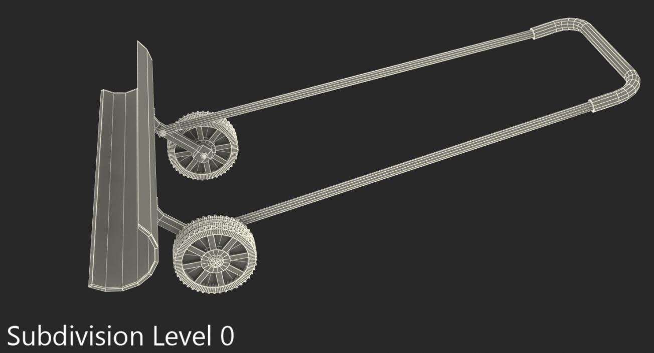3D Snow Shovel On Wheels