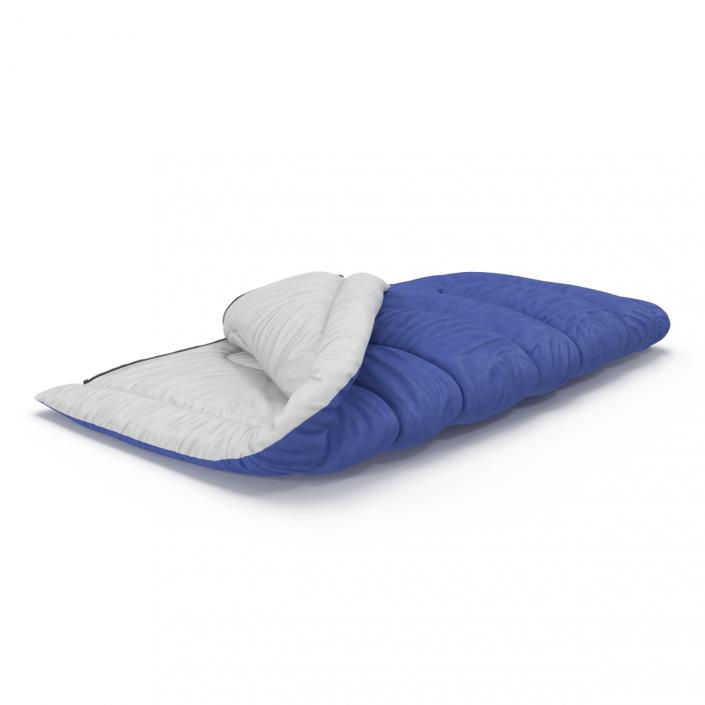 Sleeping Bag Blue 3D