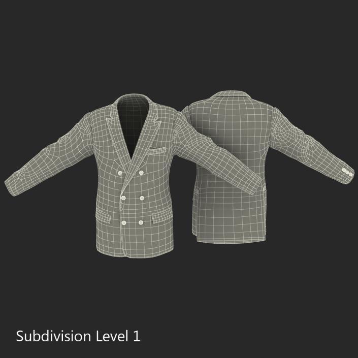 3D Mens Suit Jacket 7 model