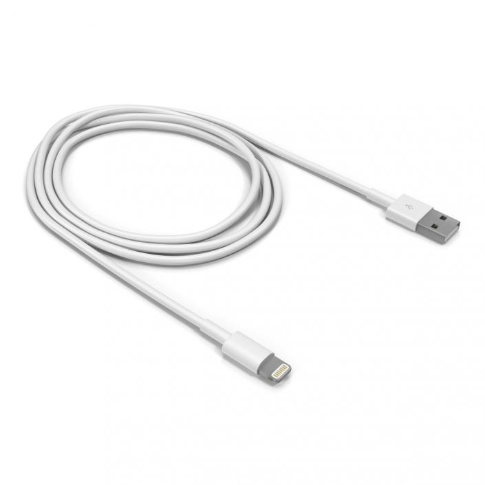 3D Apple Lightning to USB Cable model