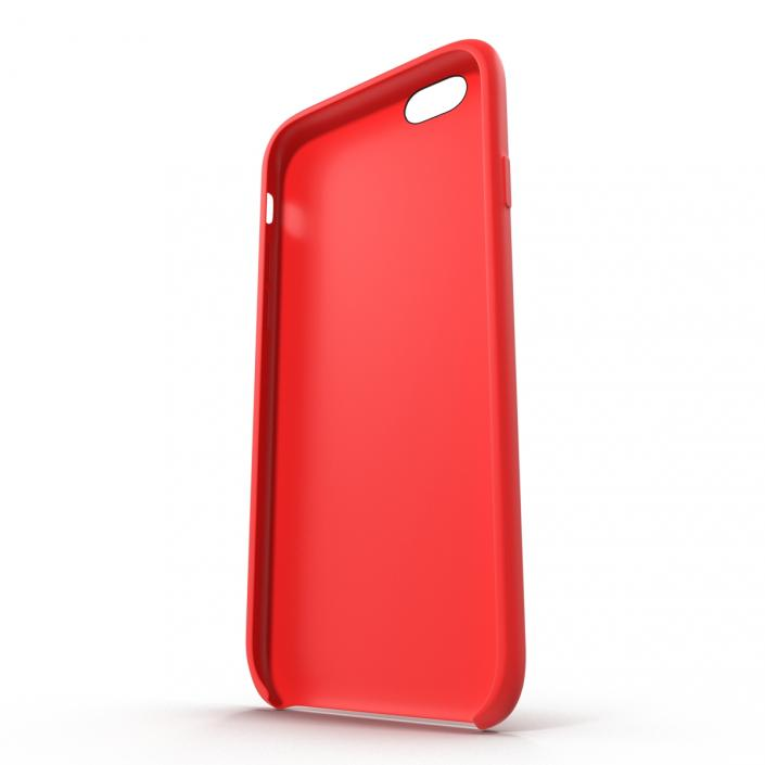 3D iPhone 6 Silicone Case Red