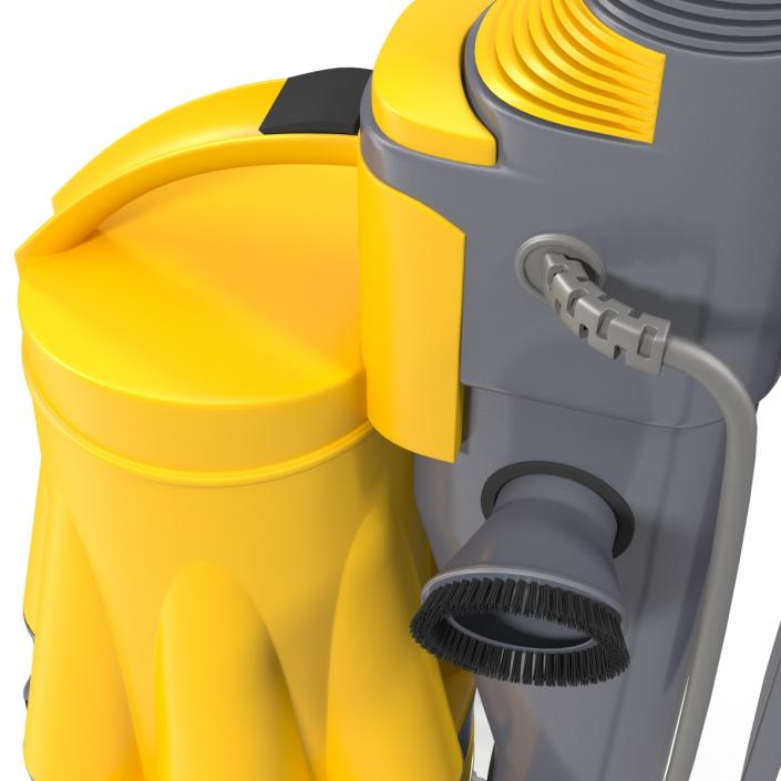 3D model Stand Up Vacuum Cleaner Yellow