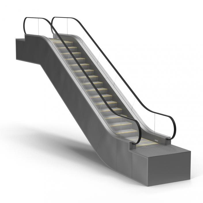 Escalator 3D model | 3D Molier International