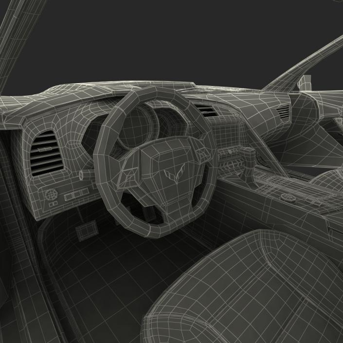 3D model Chevrolet Corvette 2015 Rigged
