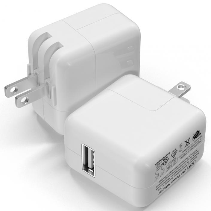 Apple 12W USB Power Adapter 3D