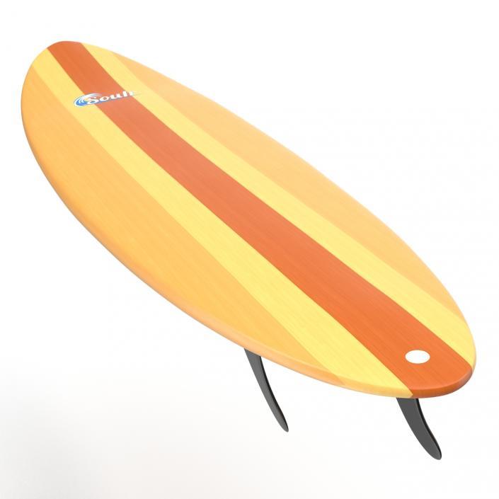 3D model Surfboard Funboard 2