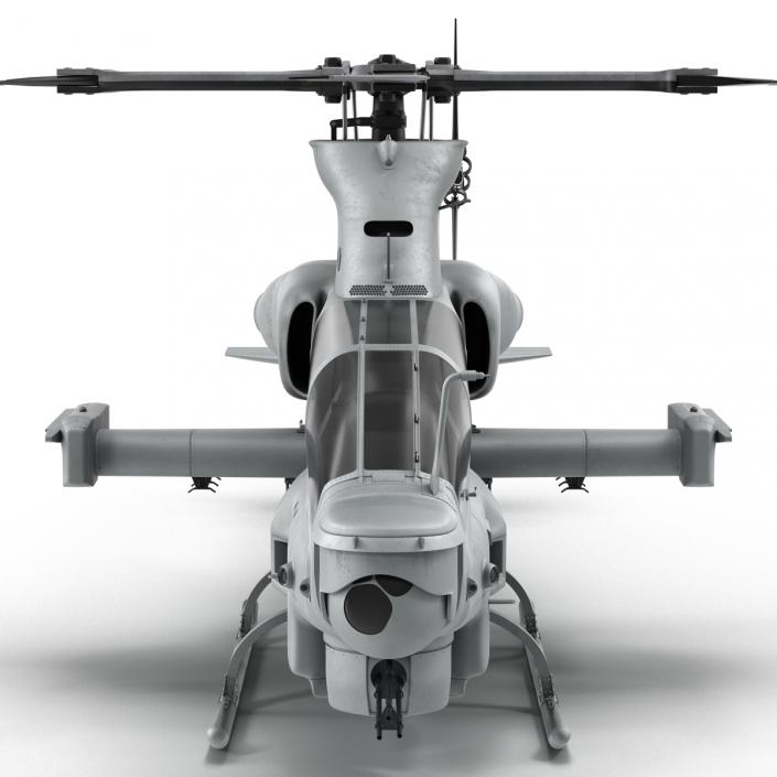 3D Attack Helicopter Bell AH 1Z Viper Rigged 2 model